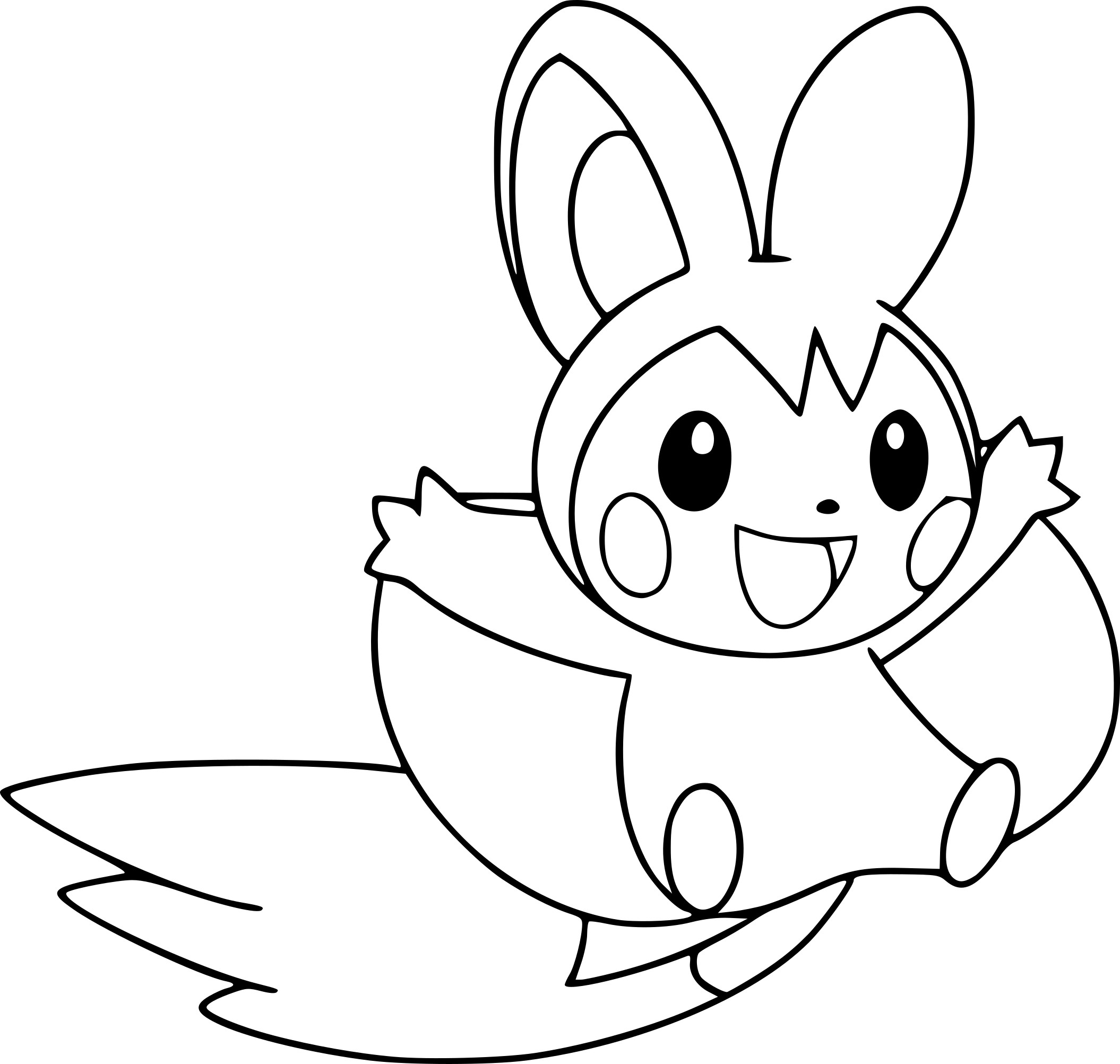Coloring Pages Of Baby Pikachu