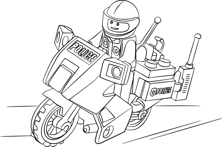 Coloriage Lego police