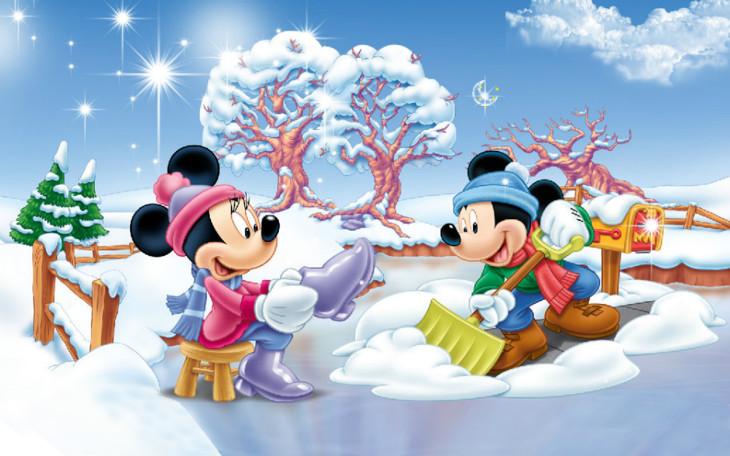 Mickey en hiver