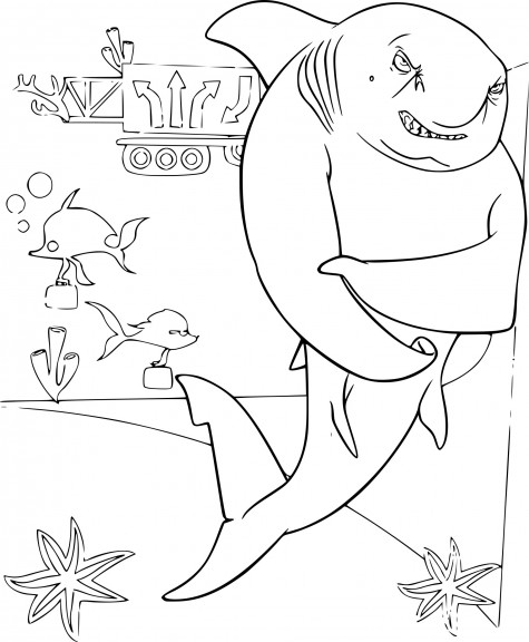 Coloriage Gang de requins