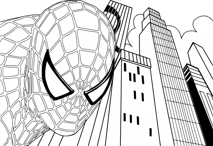 Coloriage Spiderman 4