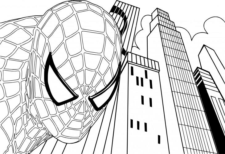 Coloriage Spiderman 4