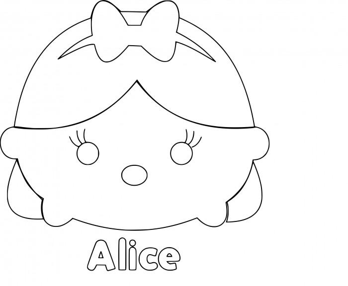 Coloriage Tsum Tsum Alice