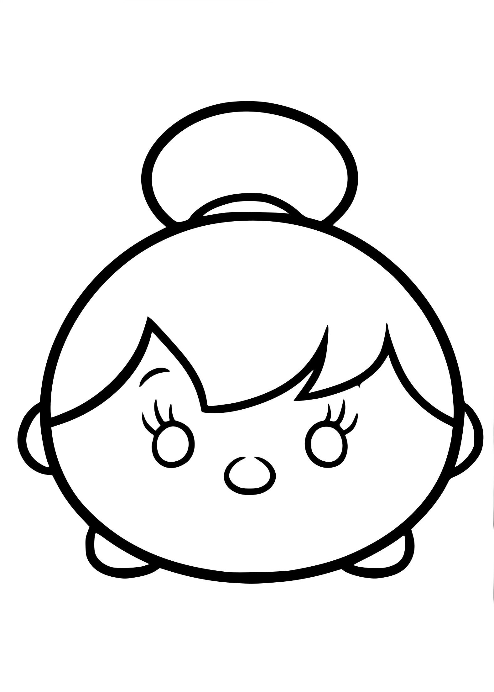 Coloriage Tsum Tsum fée