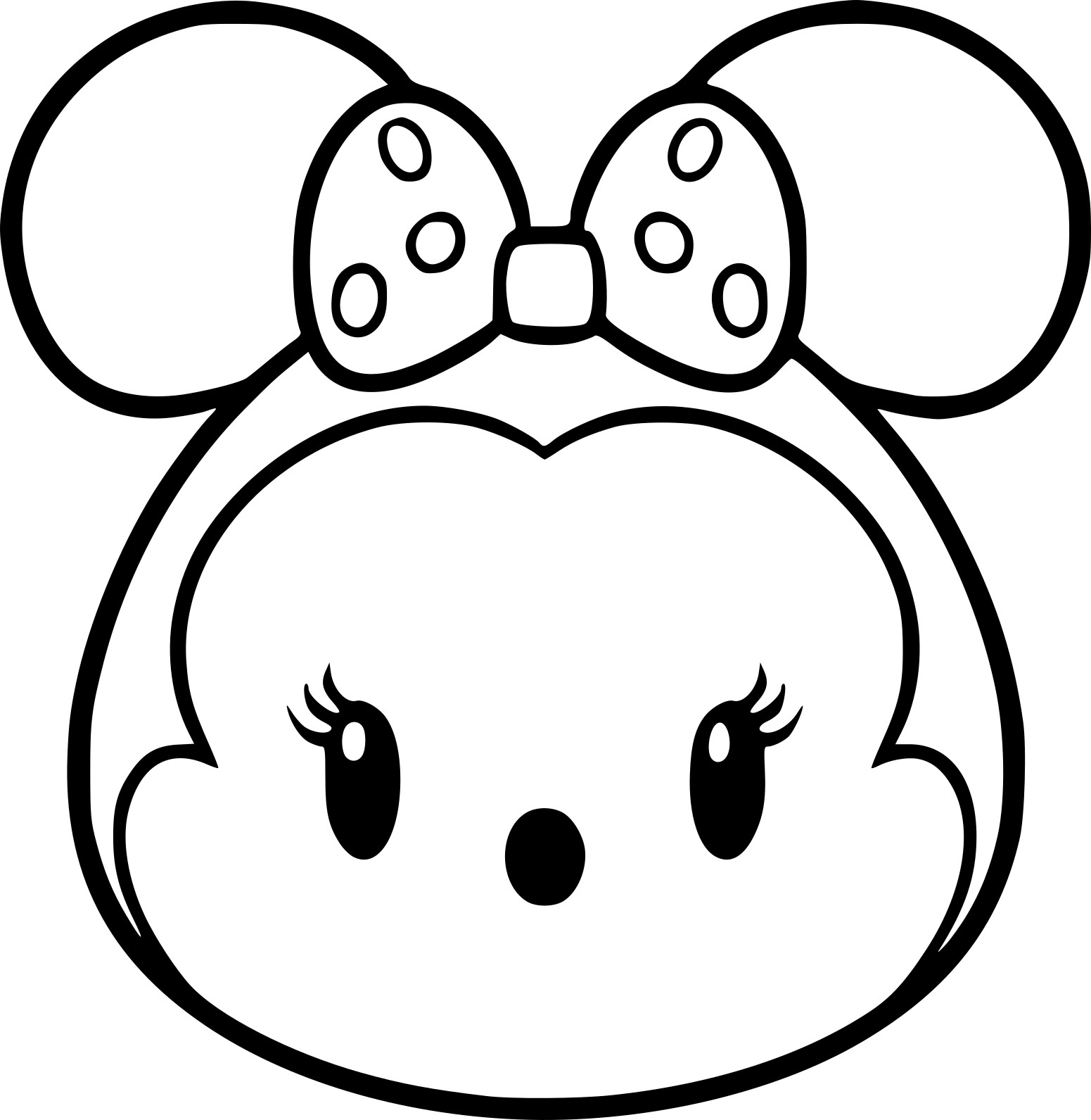 Coloriage Tsum Tsum Minnie