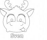 Coloriage Tsum Tsum Sven