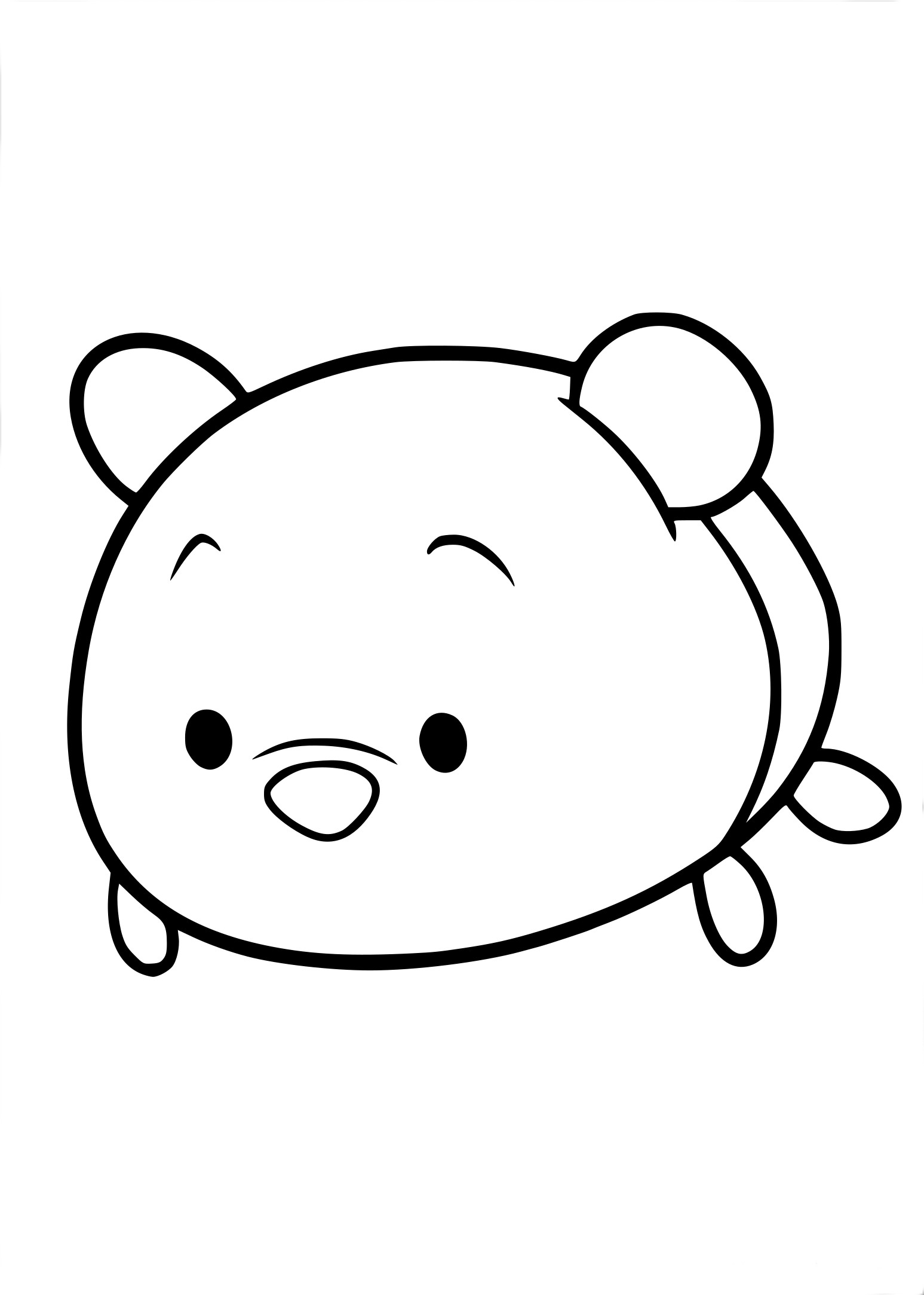 Coloriage Tsum Tsum Winnie
