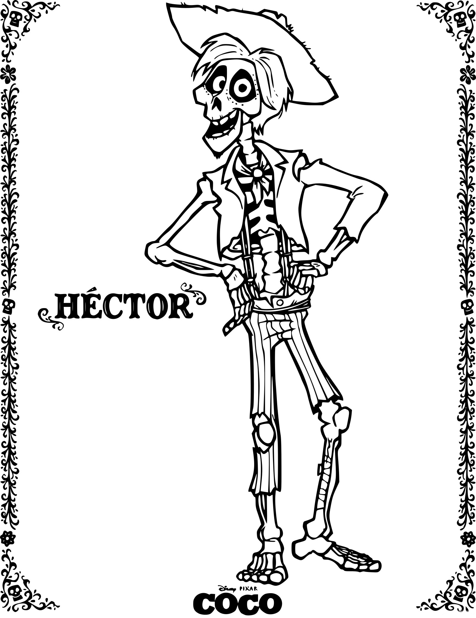Coloring Pages Coco Guitar Printable Homeremedies4youclub