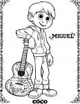Coloriage Coco Miguel