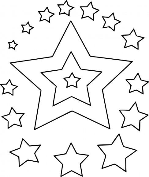 Coloriage des étoiles de noël