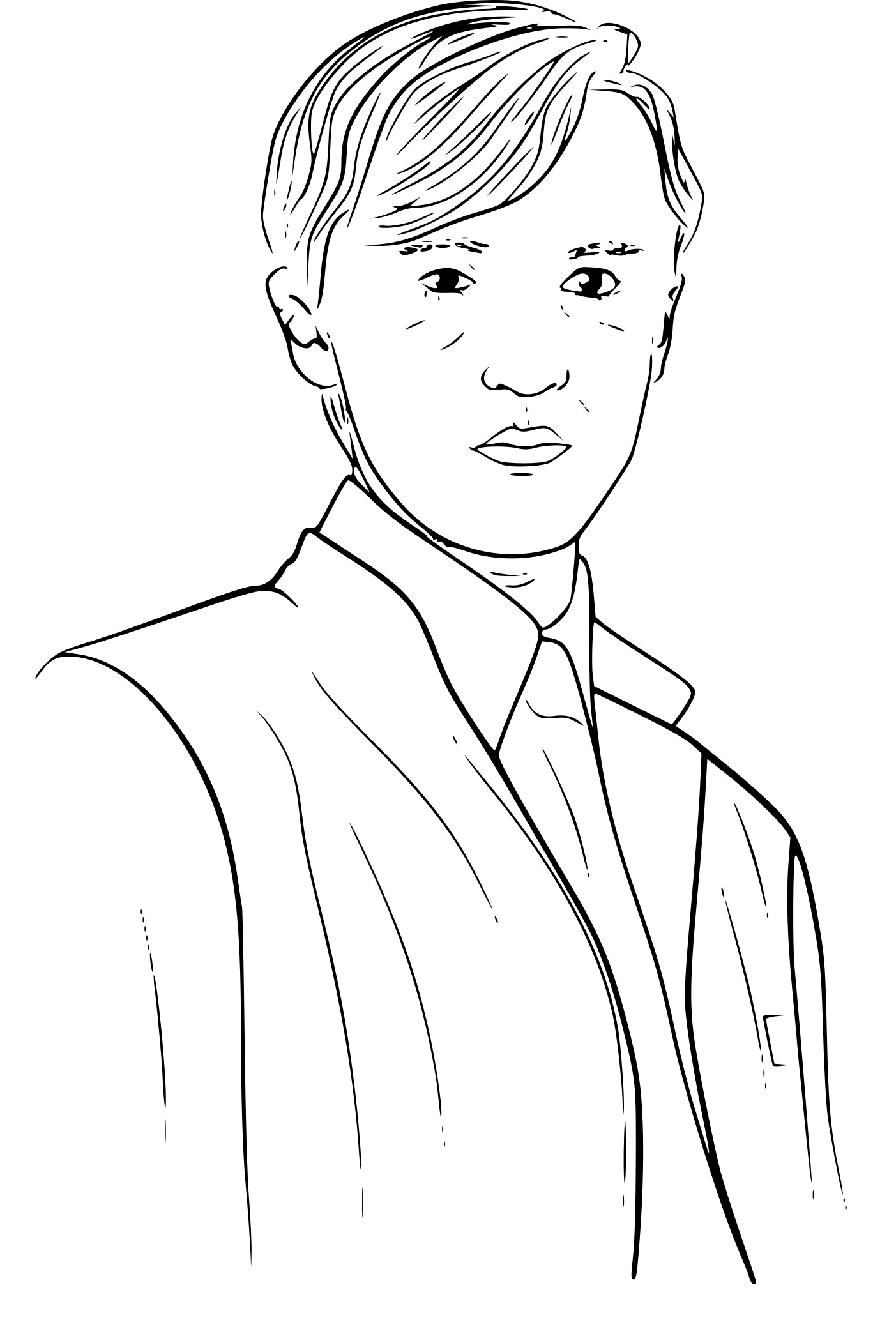 Coloriage Drago Malefoy