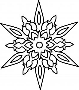 Coloriage étoile de Noel