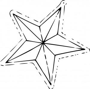 Coloriage étoile de sapin noël