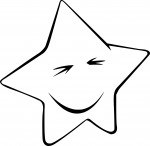 Coloriage étoile marrante