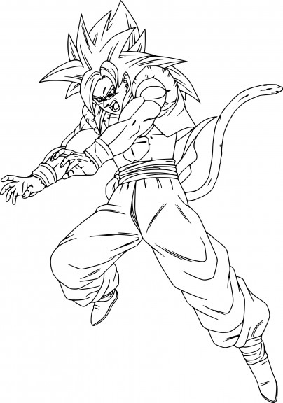 Coloriage gogeta dragon ball z imprimer - Dessin de dragon ball super ...