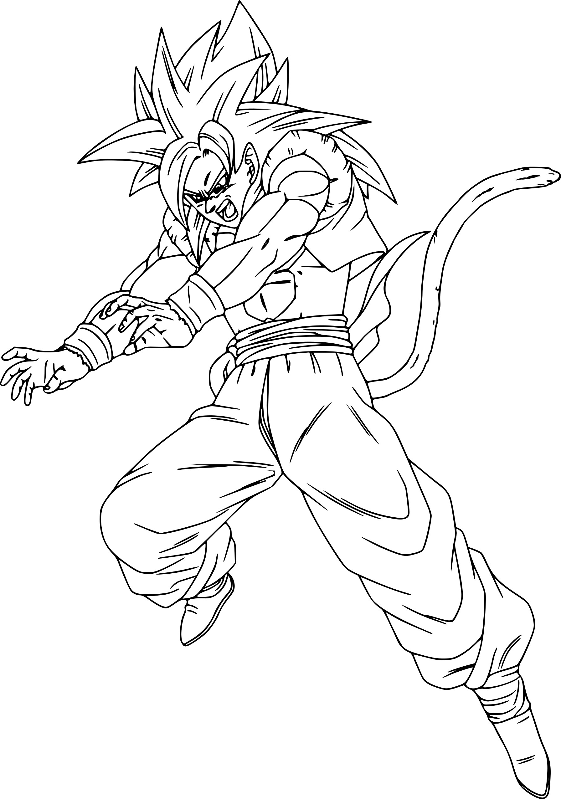 Coloriage Gogeta Dragon Ball Z A Imprimer