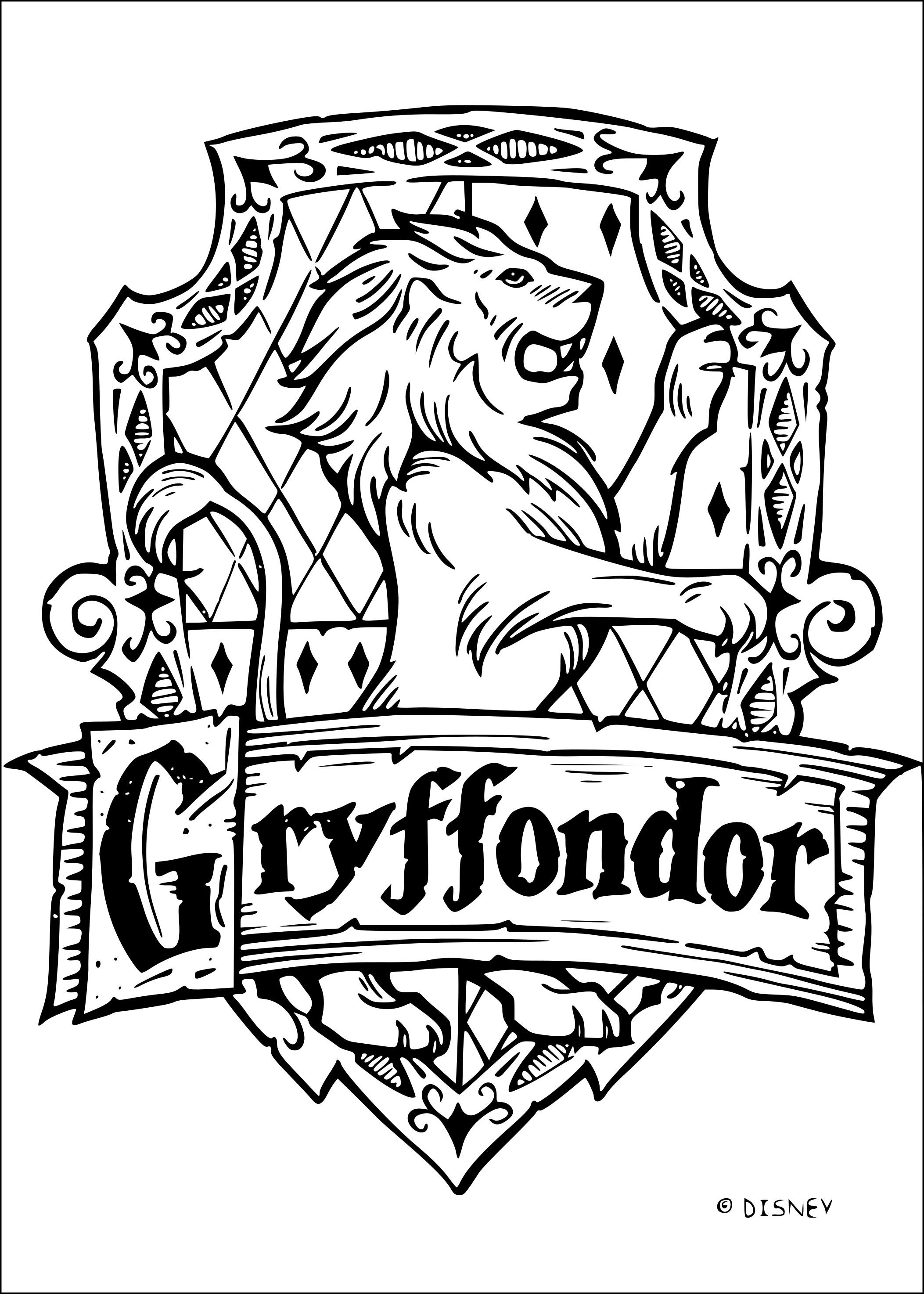 Coloriage Gryffondor