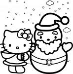 Coloriage Hello Kitty noël