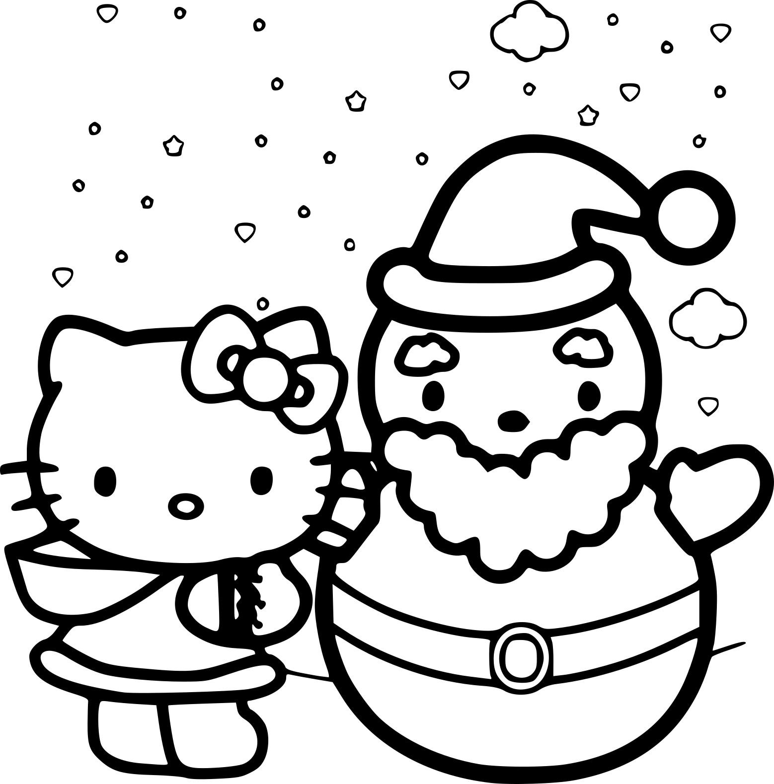 Coloriage hello kitty no l imprimer - Hello kitty jeux coloriage ...