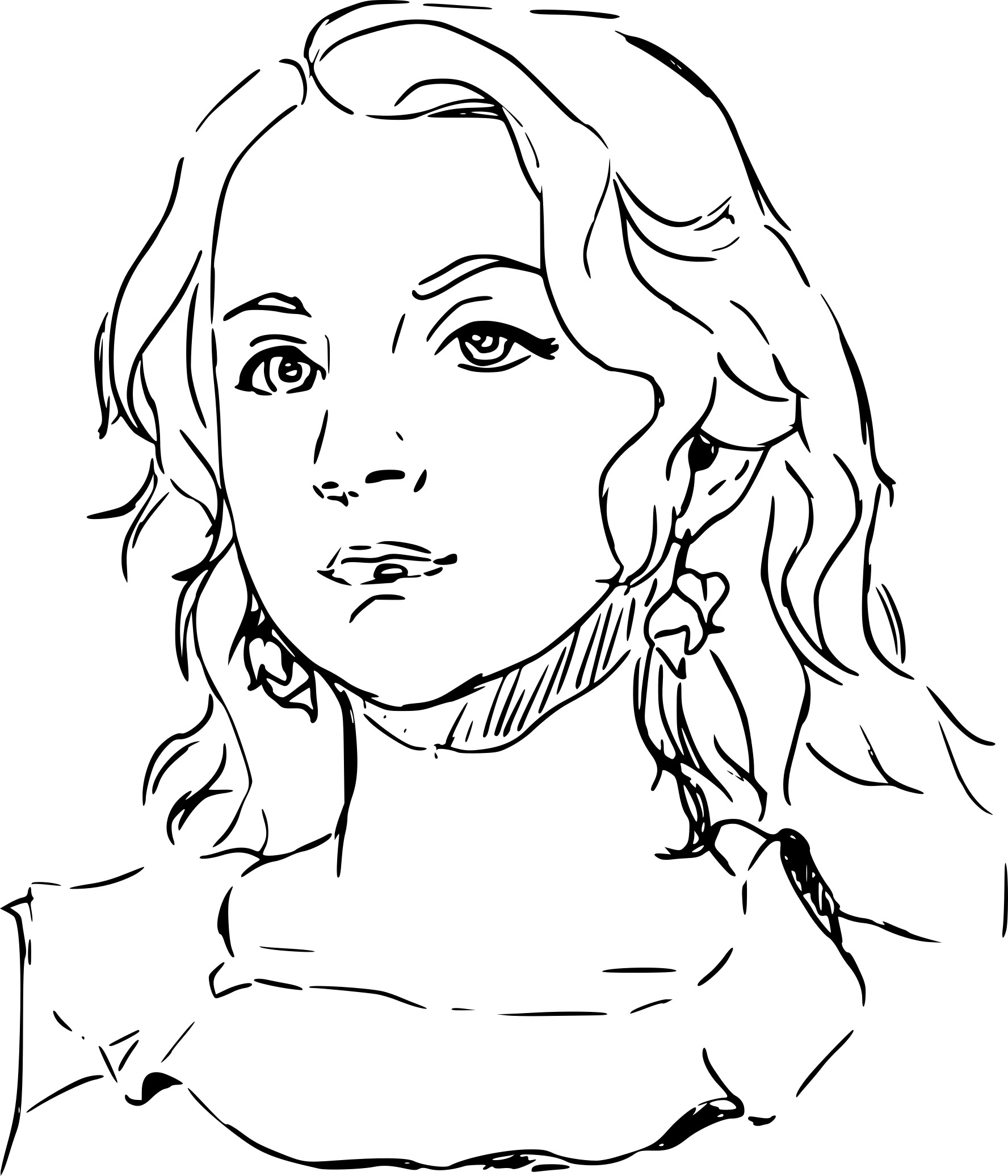 Luna Lovegood Coloring Pages Sketch Coloring Page