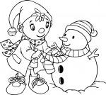 Coloriage Noel oui-oui