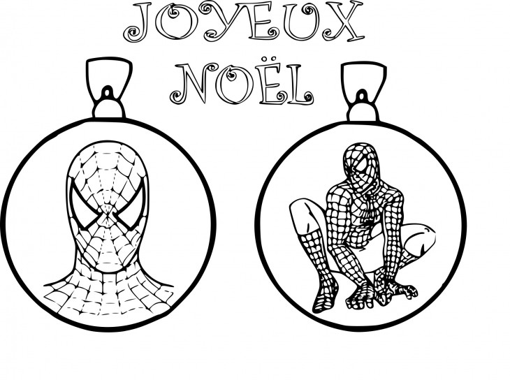 Coloriage Spiderman noël