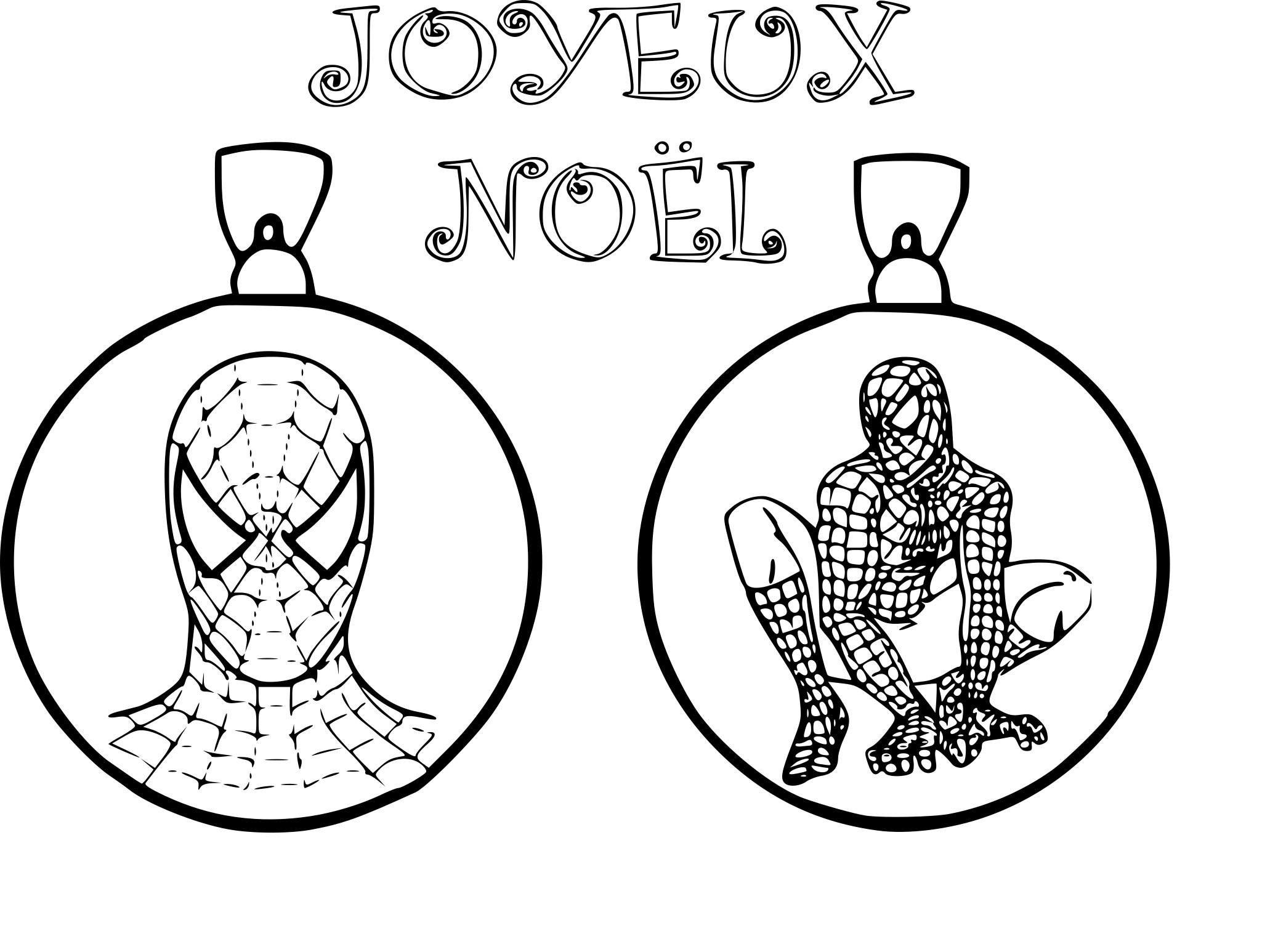 Coloriage Spiderman noël