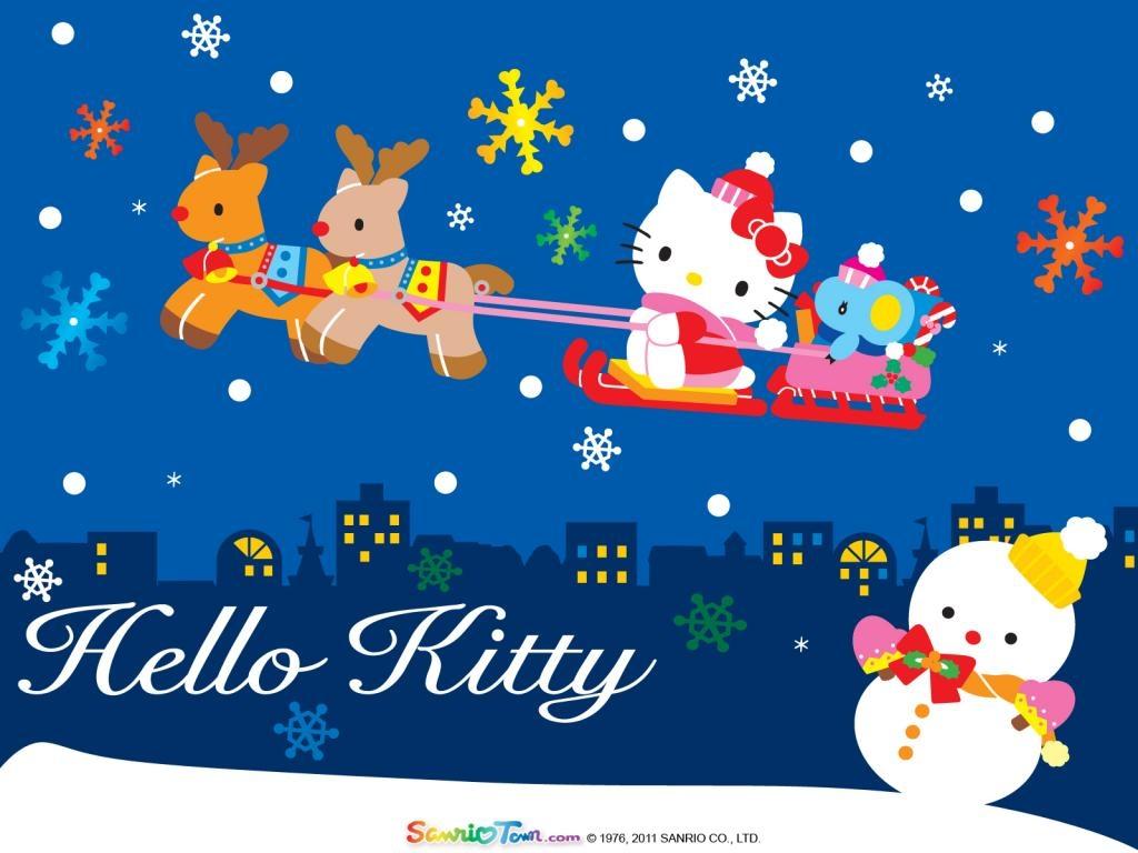 Coloriage hello kitty no l imprimer - Hello kitty noel ...