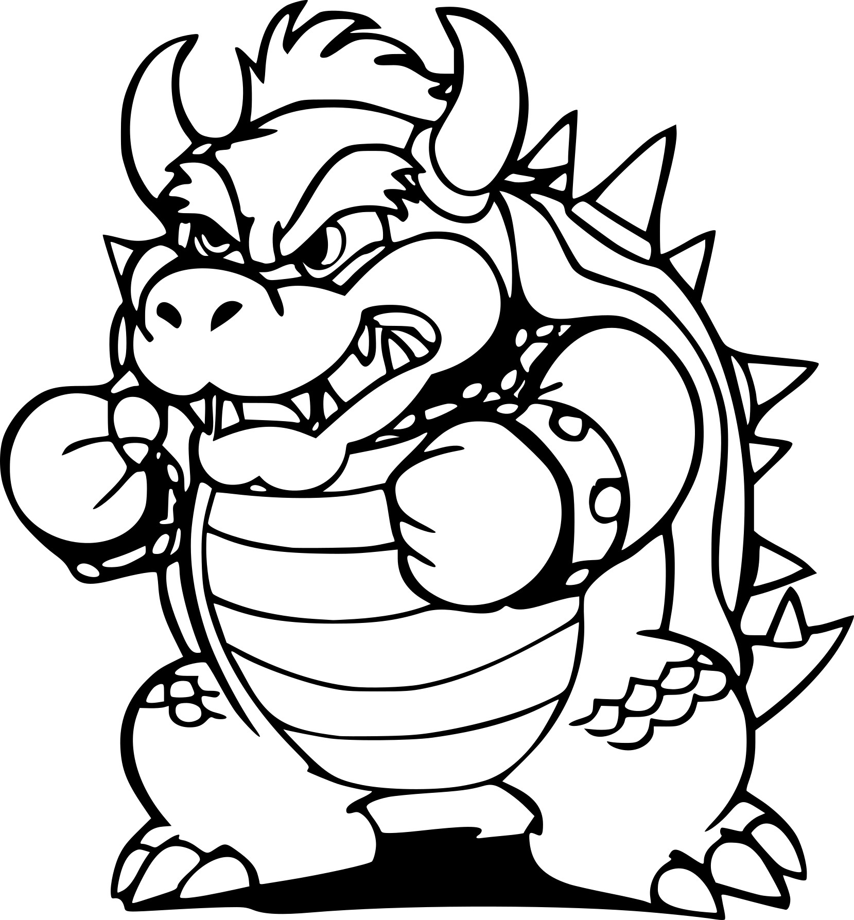 coloriage bowser et dessin imprimer. Black Bedroom Furniture Sets. Home Design Ideas