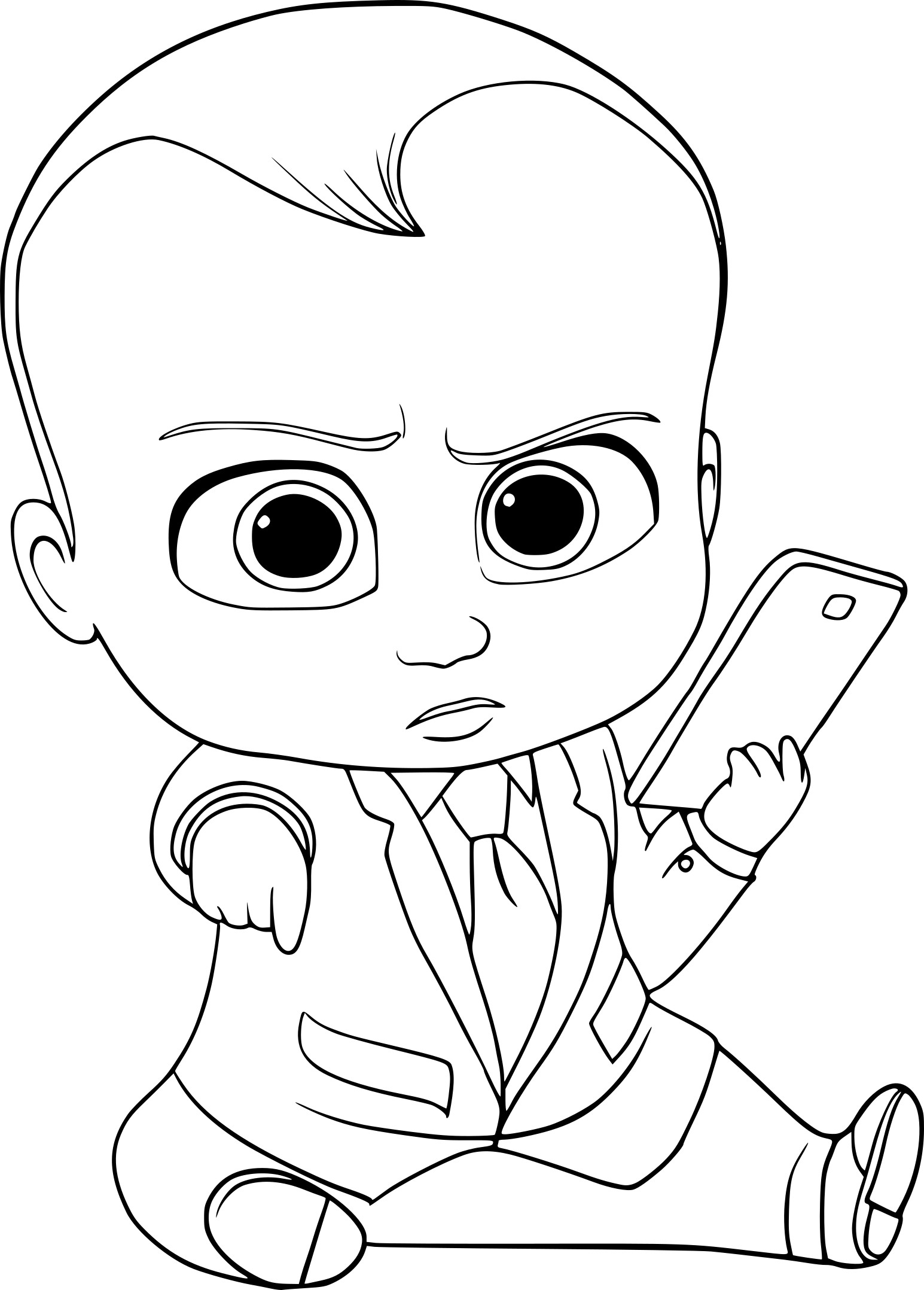 Coloriage Baby Boss