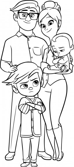 Coloriage Baby Boss la famille