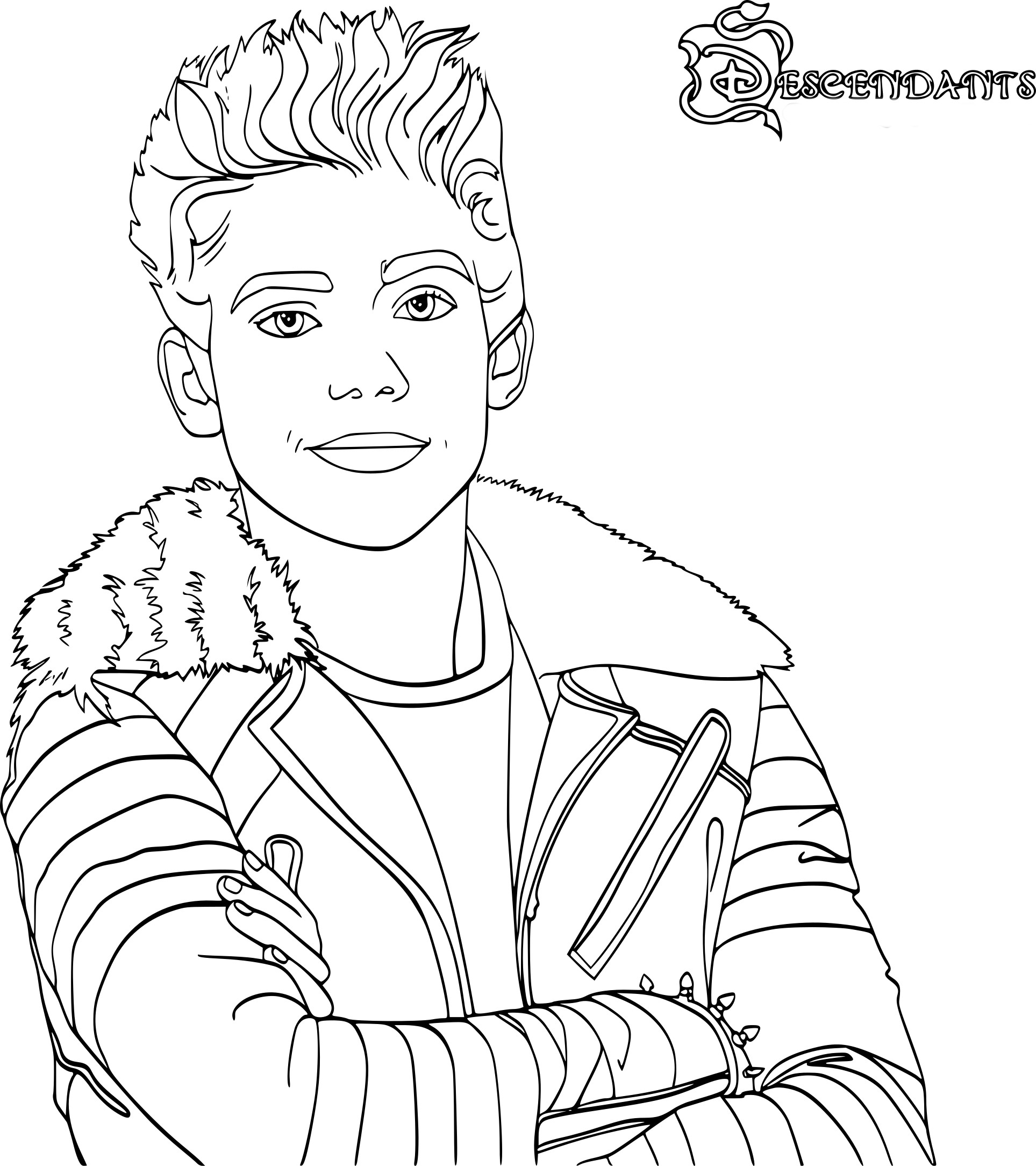 Coloriage Carlos Descendants
