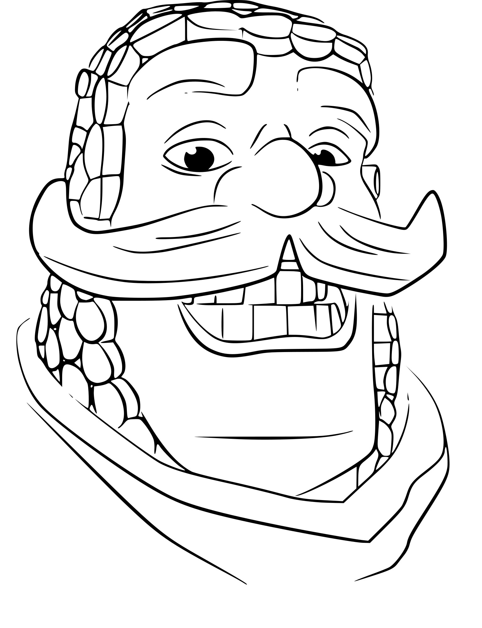 Coloriage Clash Royale chevalier