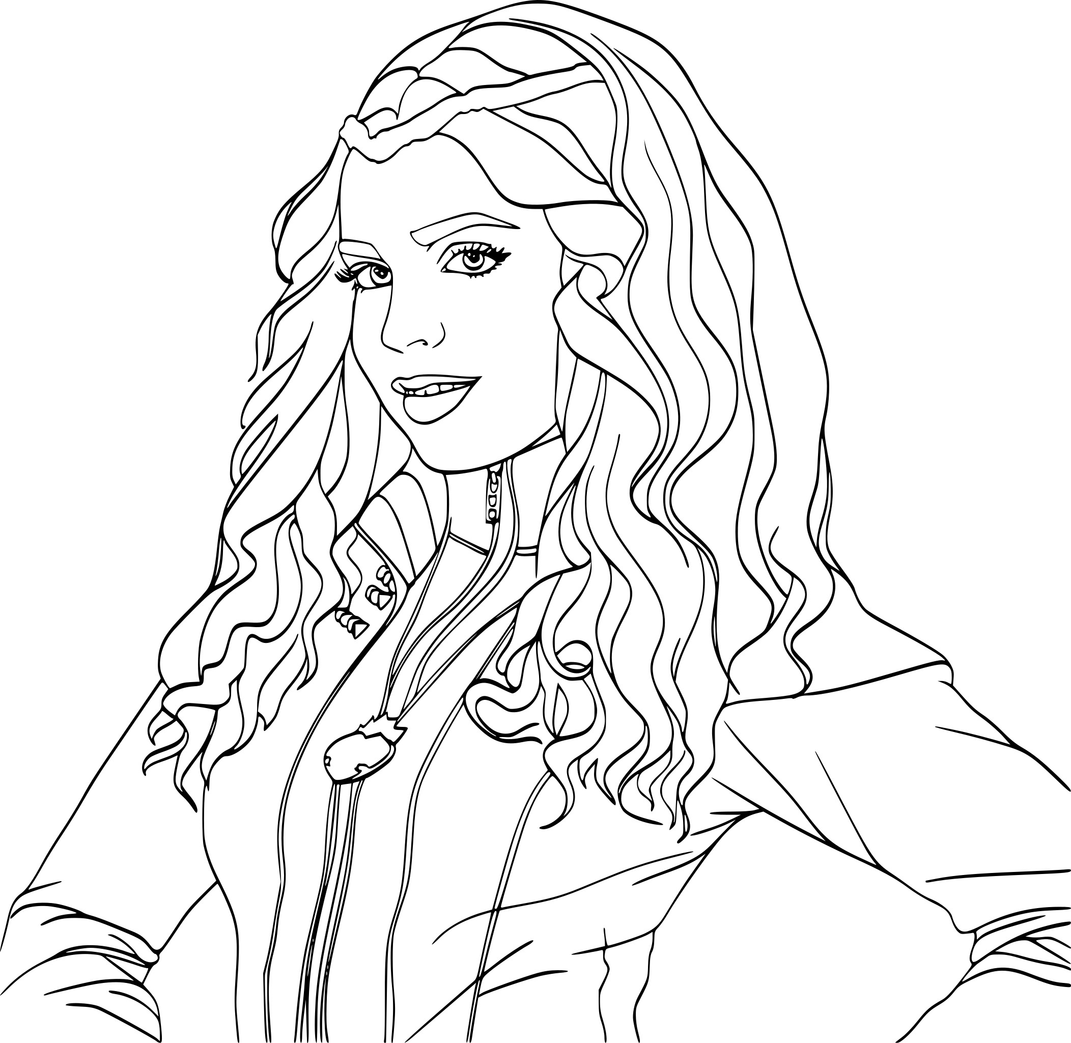 Coloriage Evie Descendants