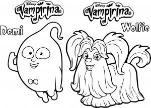 Coloriage les amis de Vampirina