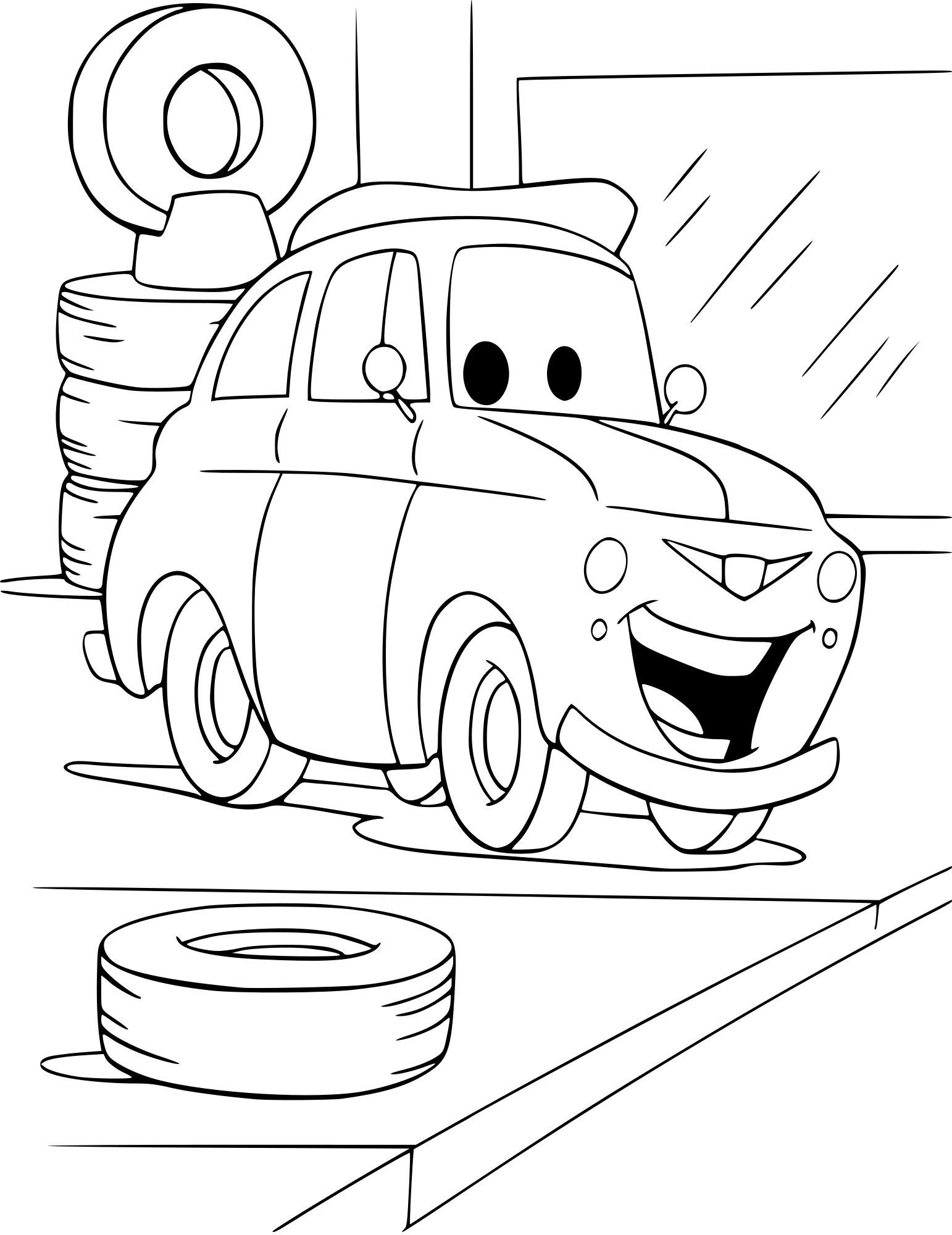 Coloriage Luigi Cars