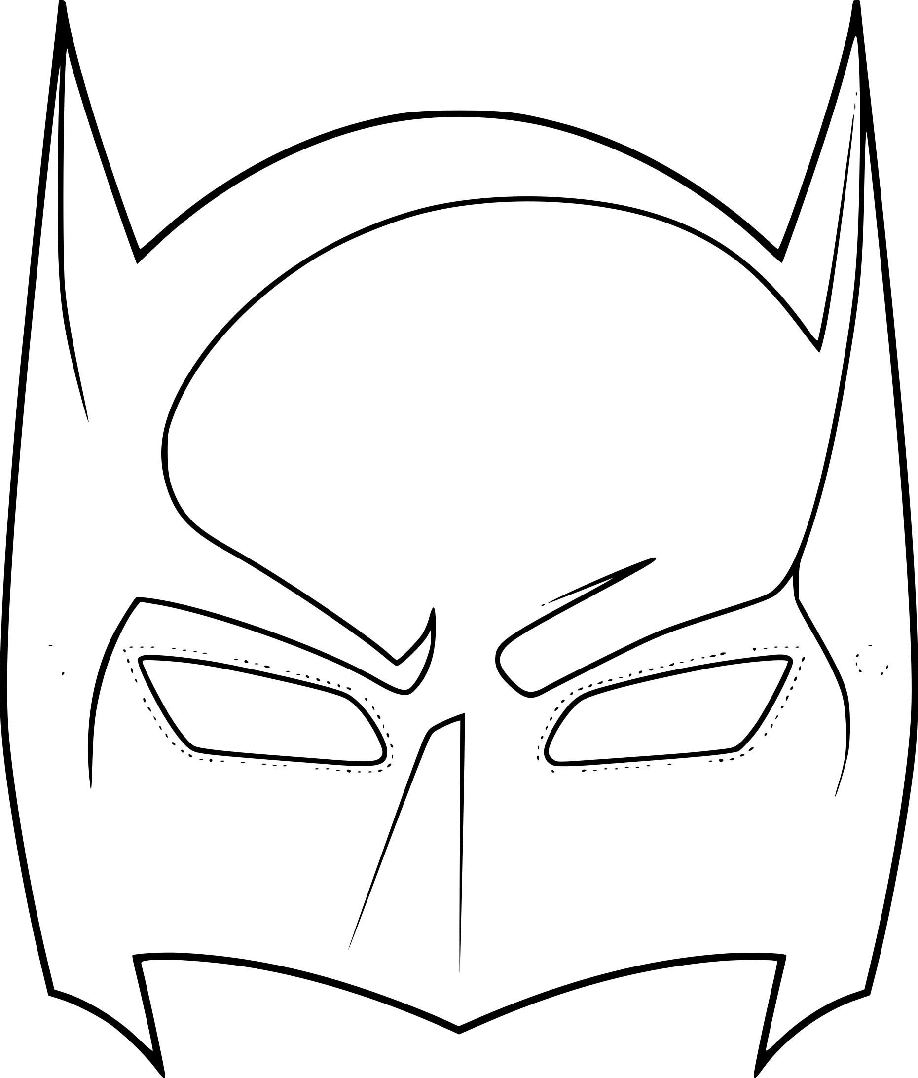 Coloriage Masque Batman A Imprimer