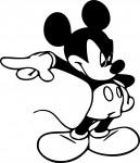 Coloriage Mickey énervé