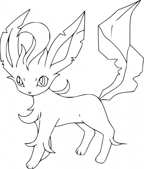 Coloriage Phyllali Pokemon à imprimer