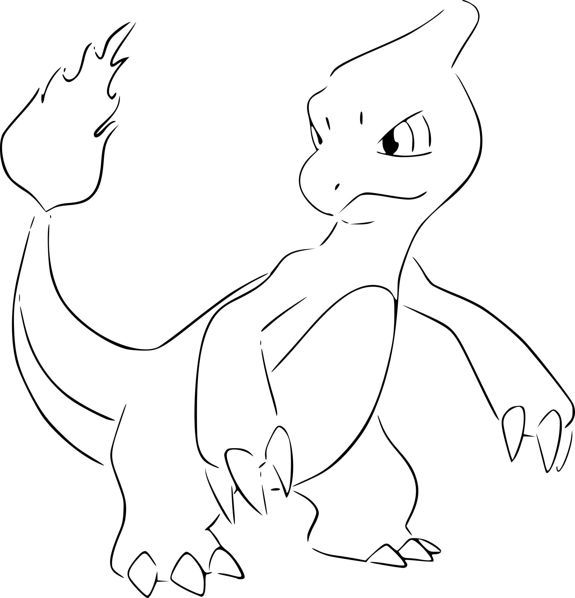 Coloriage Pokemon Reptincel à imprimer