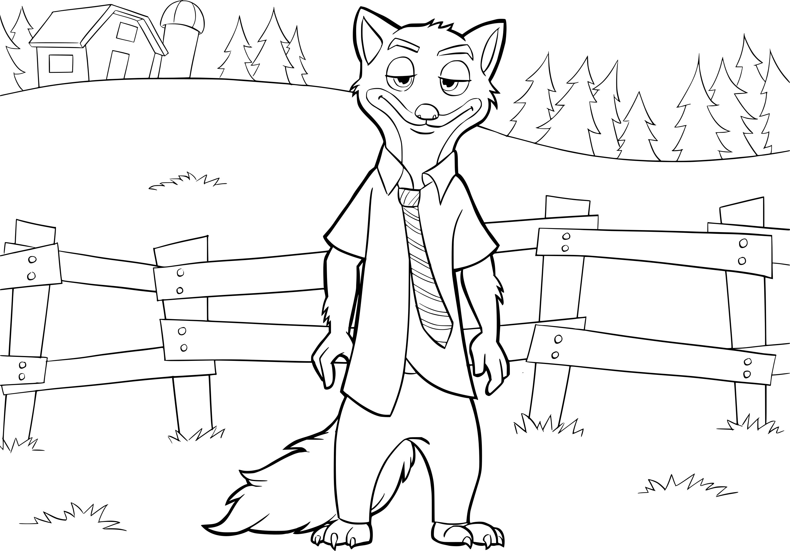 Coloriage Zootopie Nick Wilde