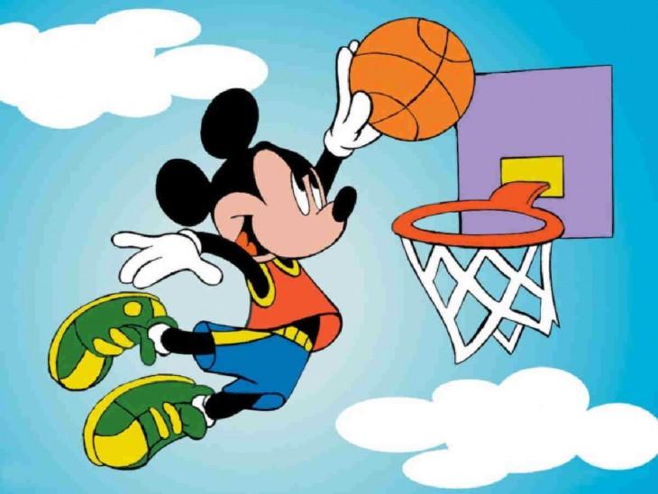Mickey fait du sport