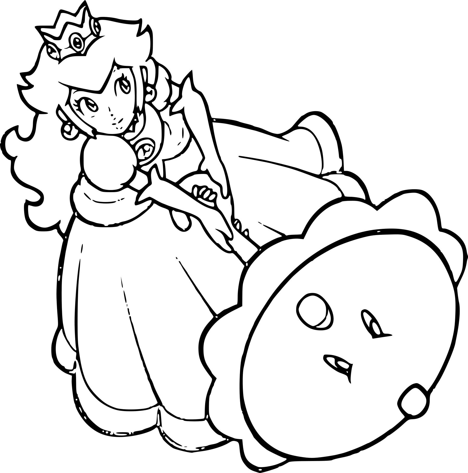 Princesse Peach dessin