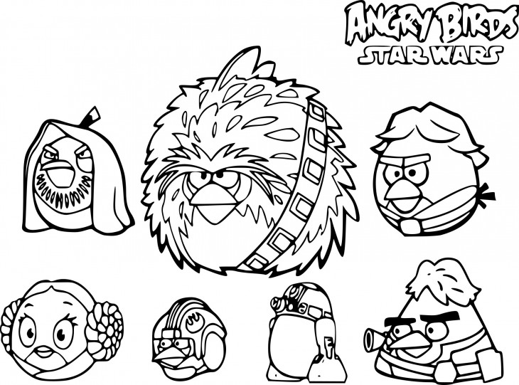 Star Wars Angry Birds coloriage