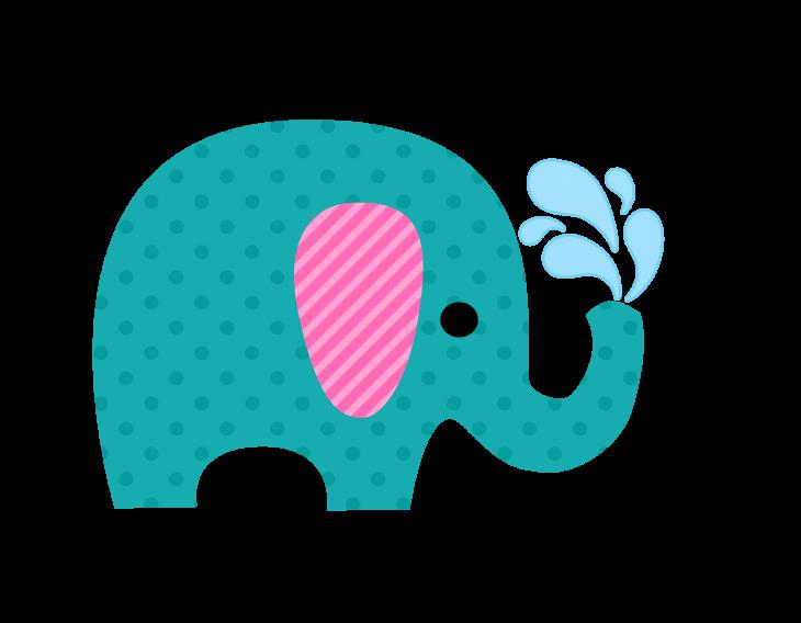 Bébé éléphant arrose