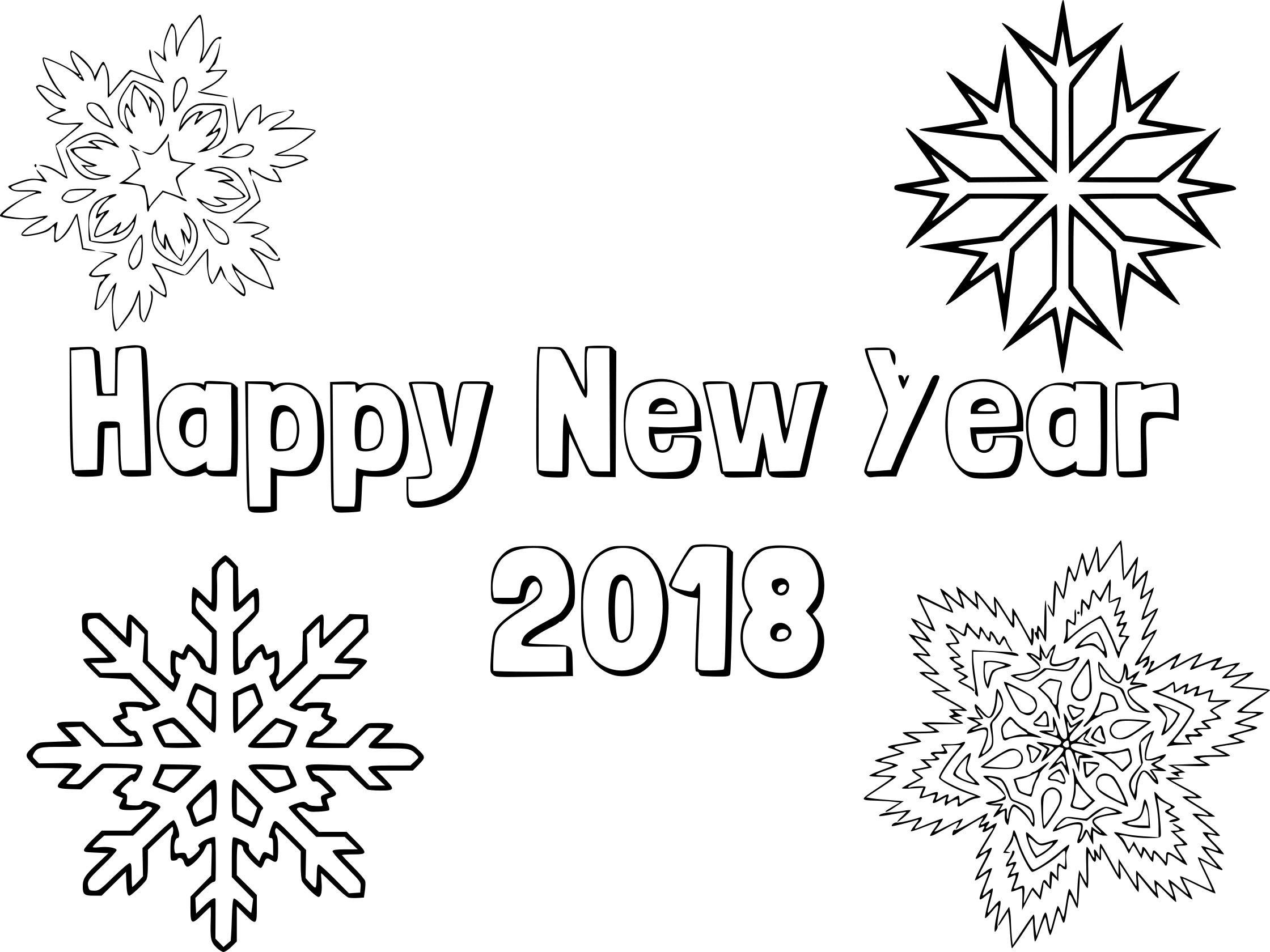 Coloriage Bonne année 2018