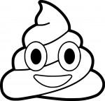 Coloriage Emoji caca