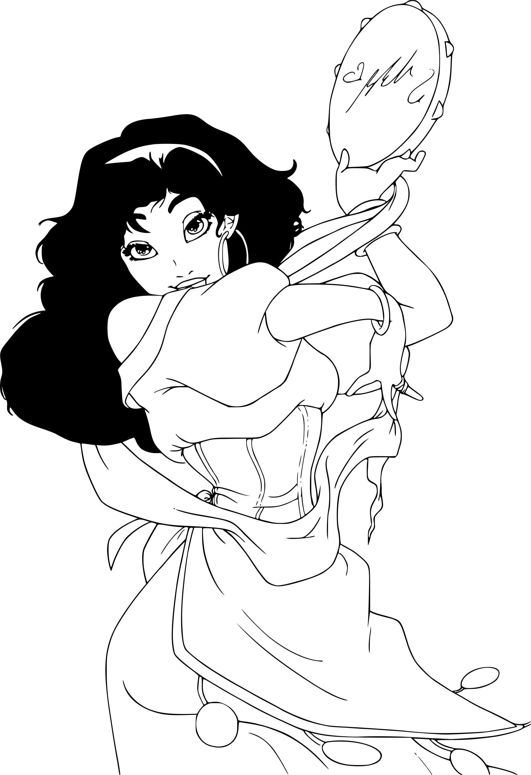 Coloriage Esmeralda Disney