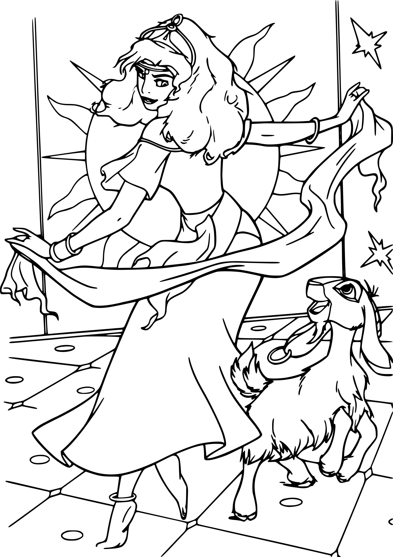 Coloriage Esmeralda Note Dame de Paris