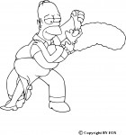 Coloriage Homer et Marge
